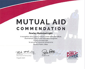 APPA Mutual Aid Commendation Certificate image